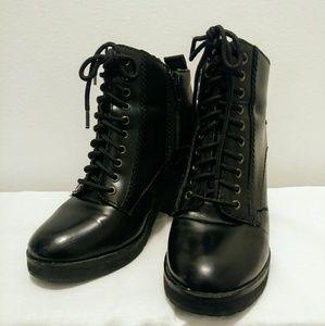 Miz Mooz Heeled Combat Boots